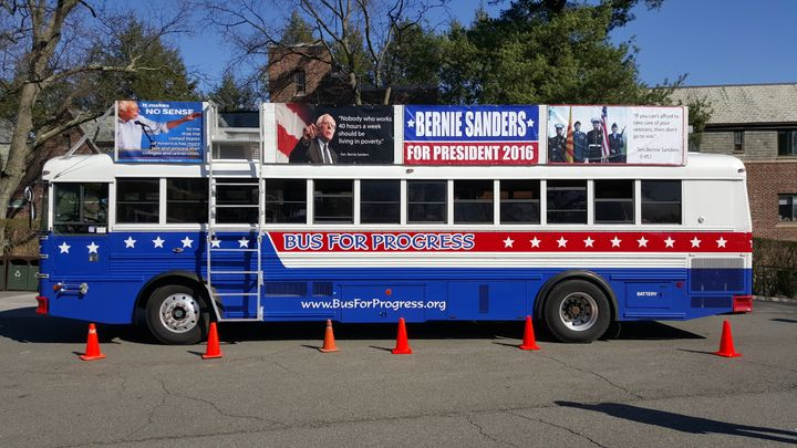 A Bernie Bus For Progress, as seen in Bronxville, NY.