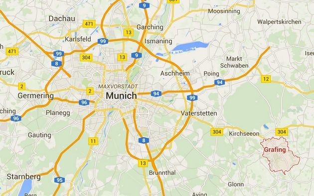 The incident happened at a train station in Grafing, 30km from the city of