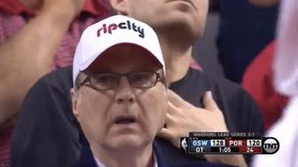 Paul Allen watches on as Steph Curry stuns the Trail Blazers