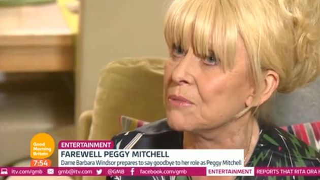 Barbara Windsor was upset as she discussed her 'EastEnders' exit on 'Good Morning