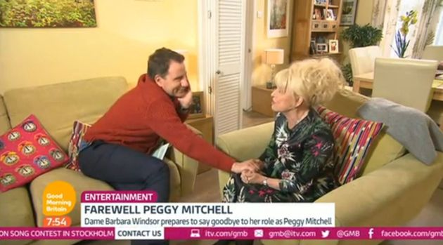 Barbara was comforted by GMB's Richard Arnold during the