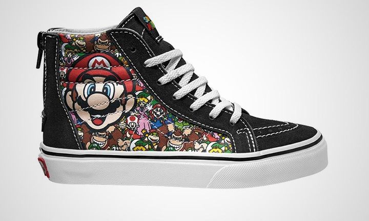 Vans' classic high-top gets an eye-popping update with vintage Mario.
