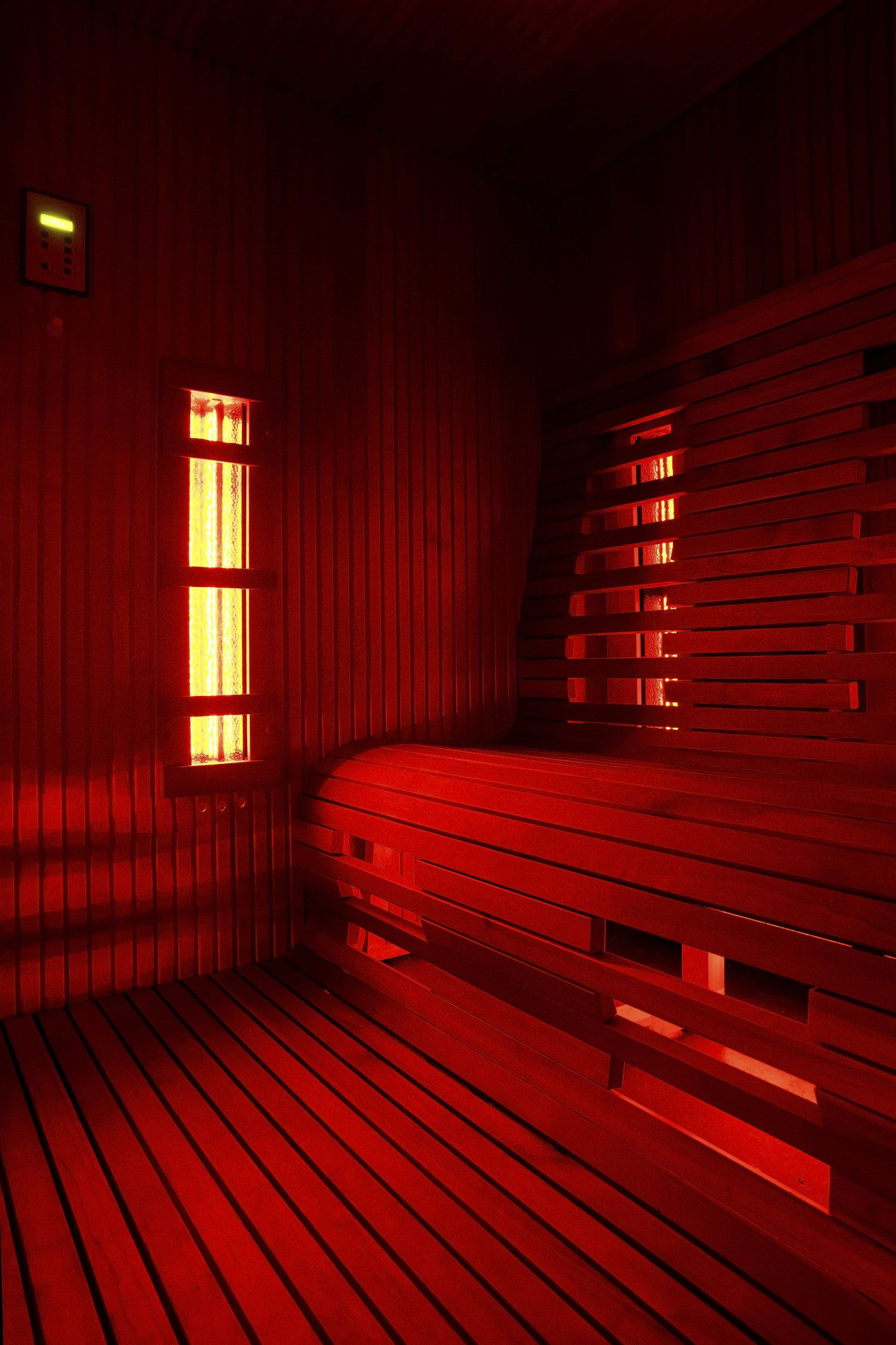 Infrared sauna cabin (infra)red light