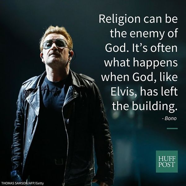 """Religion can be the enemy of God. It's often what happens when God, like Elvis, has left the building. A list of instr"