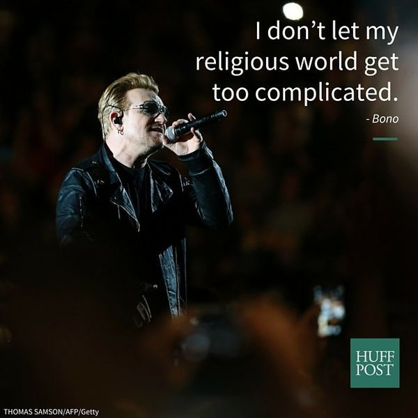 """I don't let my religious world get too complicated. I just kind of go: Well, I think I know what God is. God is love,"