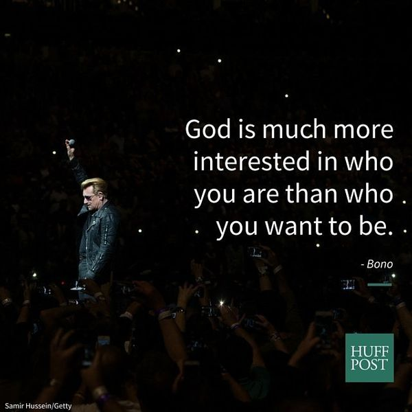 """It's very important for Christians to be honest with God, which often, you know, God is much more interested in who you are"