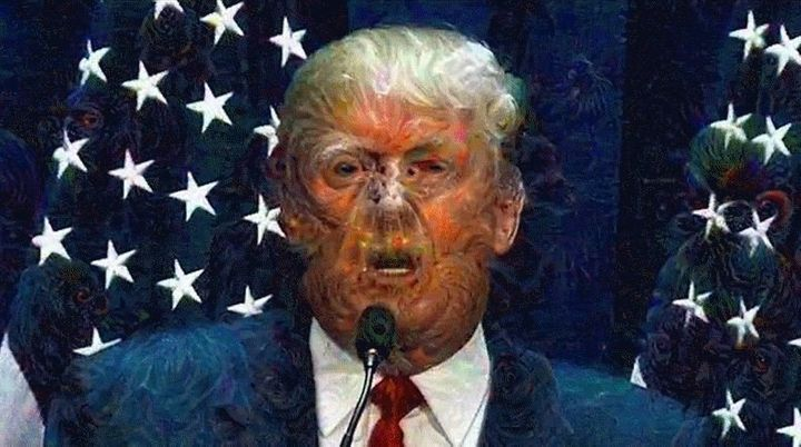 "Eric Cheng ran Google's ""Deep Dream A.I."" against Donald Trump's July announcement that he was running for president, an"