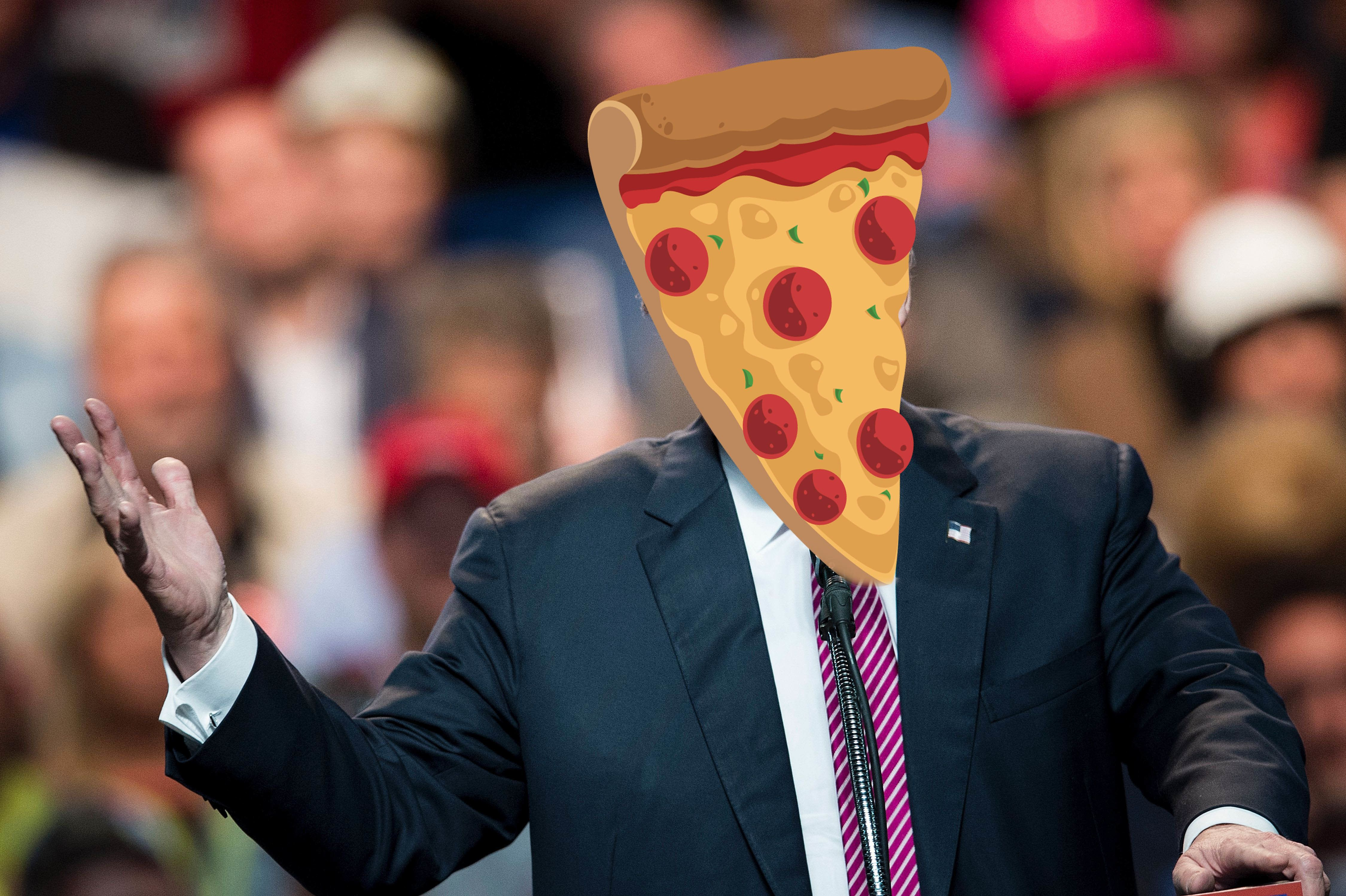 """Online dating app Bumble found that their """"Pizza for President""""filter got more right swipes than their Trump one."""