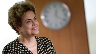 Brazil's President Dilma Rousseff smiles during a meeting with Secretary General of the Organization of American States (OAS) Luis Almagro (not pictured) in Brasilia, Brazil, May 10, 2016. REUTERS/Ueslei Marcelino