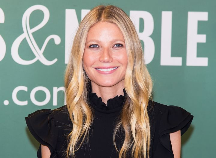 """Gwyneth Paltrow signs copies of her new book """"It's All Easy"""" at Barnes & Noble, 5th Avenue on April 12, 2016 in New York"""