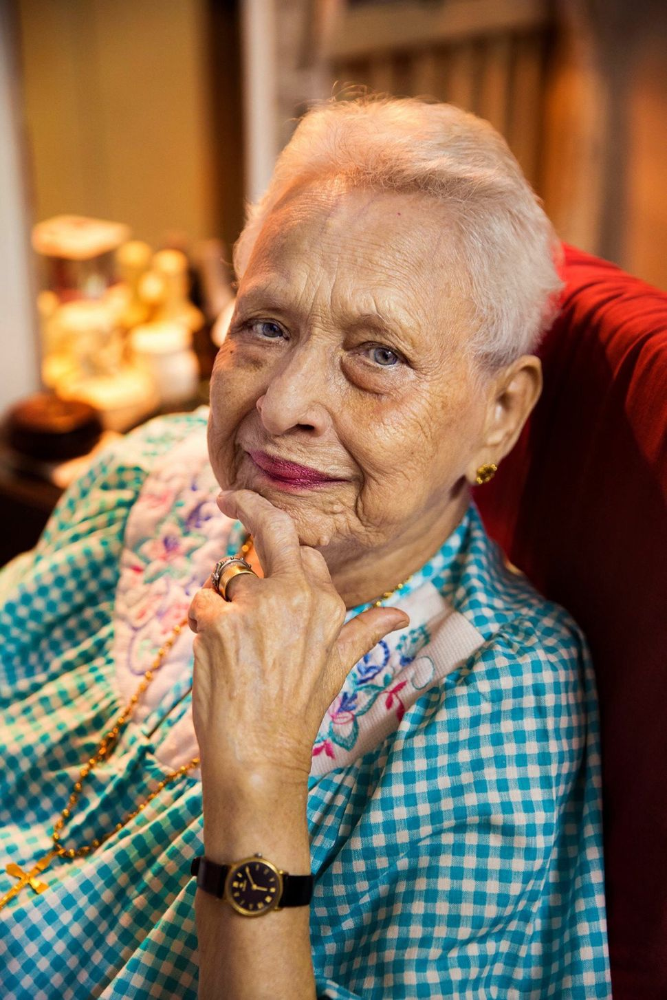 Next year she will turn 100 years old.  Imagine, a century of history seen through these beautiful eyes.