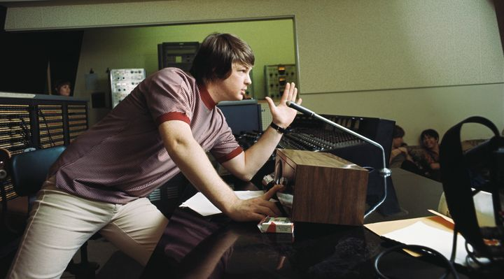 "Brian Wilson in 1966 during the recording of ""Pet Sounds."""