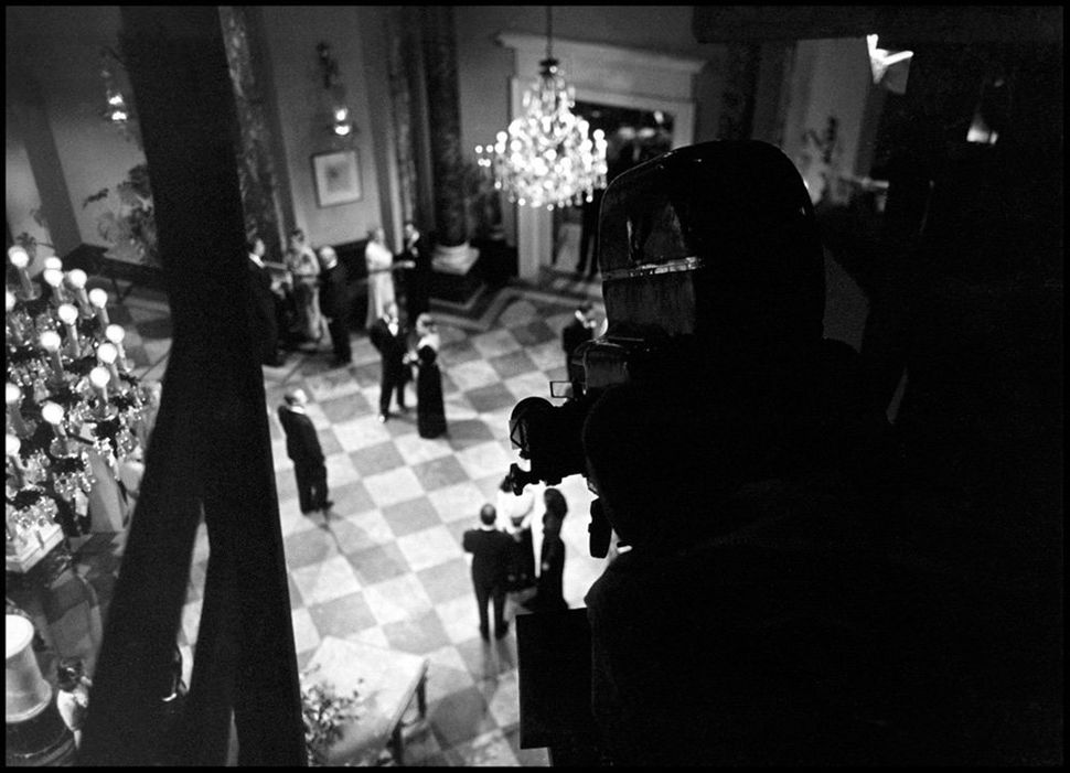"On the set of the film ""<strong>Notorious</strong>,"" directed by Alfred Hitchcock in 1946."