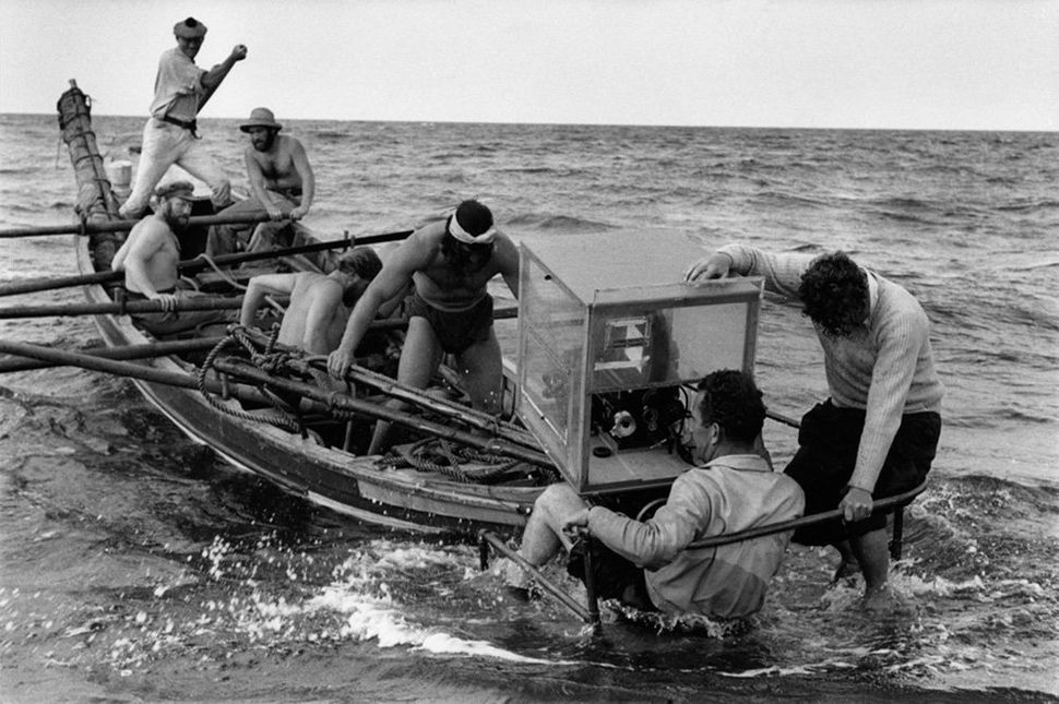 """On the set of """"<strong>Moby Dick</strong>"""" directed by John Huston, 1954."""