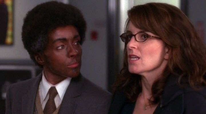 One of the many instances of blackface in 30 Rock.