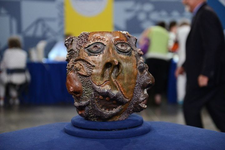 """This clay pot, dubbed the """"€œgrotesque face jug,""""€ had been valued at around $50,000 when featured by the """"Antiques Roadshow"""