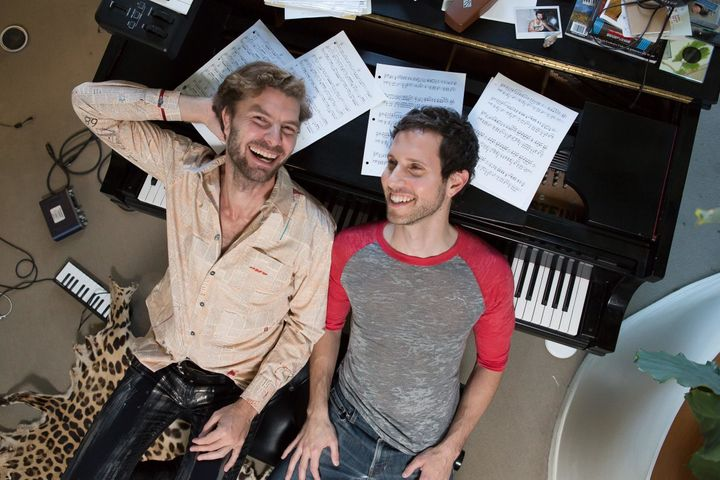 "New York theater writers Lance Horne (left) and Drew Brody have teamed up for a five-song EP, ""A Little Single."""
