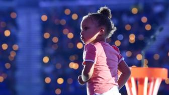 WESTWOOD, CA - JULY 16:  Riley Curry speaks onstage at the Nickelodeon Kids' Choice Sports Awards 2015 at UCLA's Pauley Pavilion on July 16, 2015 in Westwood, California.  (Photo by Michael Buckner/KCSports2015/Getty Images For KCSports2015)