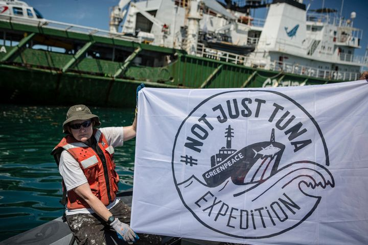 In addition to campaigning against Walmart, Greenpeace has deployed a ship to recover FADs in the Indian Ocean.