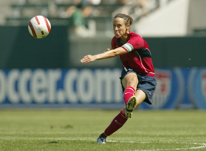 Former U.S. Women's National Team defender Kate Markgraf will become the first woman to call a major men's soccer tournament