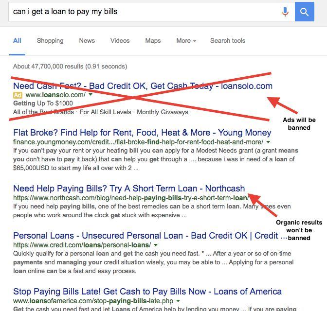Google Won't Do Business With Predatory Lenders