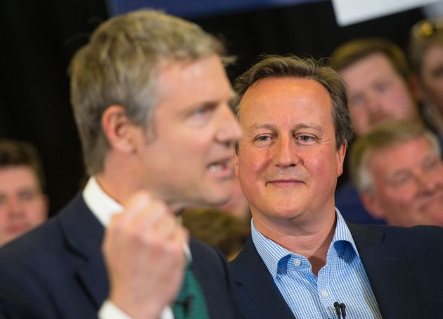 David Cameron looks on at Zac Goldsmith's final