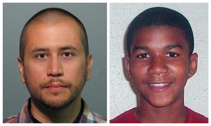 George Zimmerman (left) shot and killed Trayvon Martin (right) in February 2012, but claimed self-defense and was a