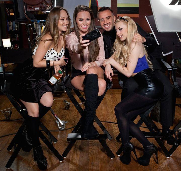 """The judges for """"The Sex Factor"""" (l-r): Remy LaCroix, Tori Black, Keiran Lee, Lexi Belle"""