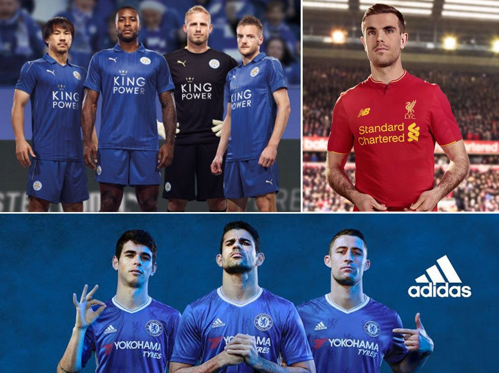 Official Premier League 2016/17 Football Kits: Chelsea, Manchester United And Liverpool Release New