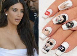 Kim Kardashian Got A Manicure Featuring Her Own Face