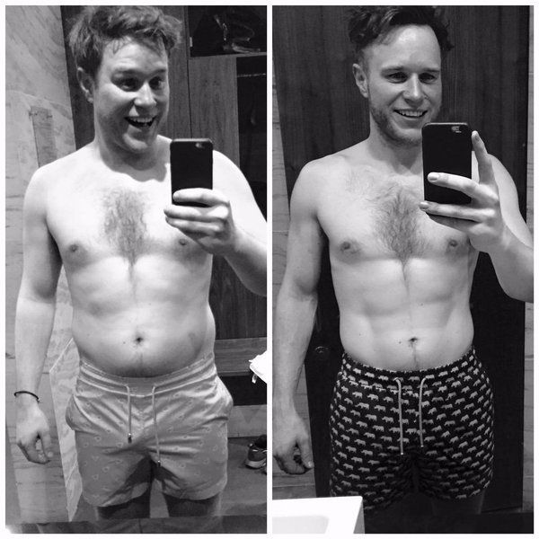 Olly showed off his body transformation last