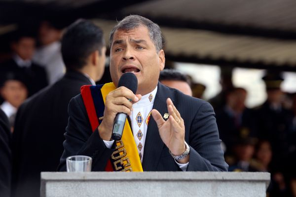 "Ecuadorean President Rafael Correa said that a Trump presidency ""would be very bad for the U.S."" and added that it might"