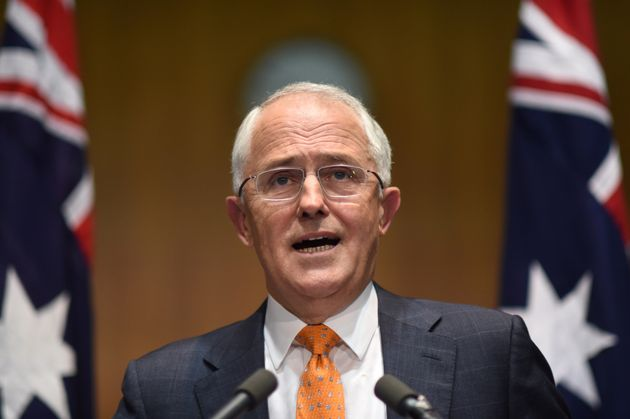 Australian Prime Minister Malcolm Turnbull speaks to the media during a news conference at Parliament...