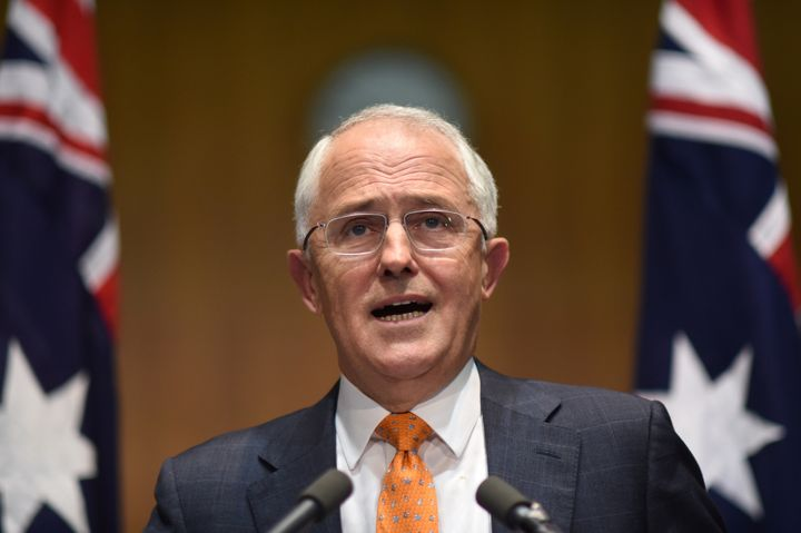 Australian Prime Minister Malcolm Turnbull speaks to the media during a news conference at Parliament House in Canberra, Aust