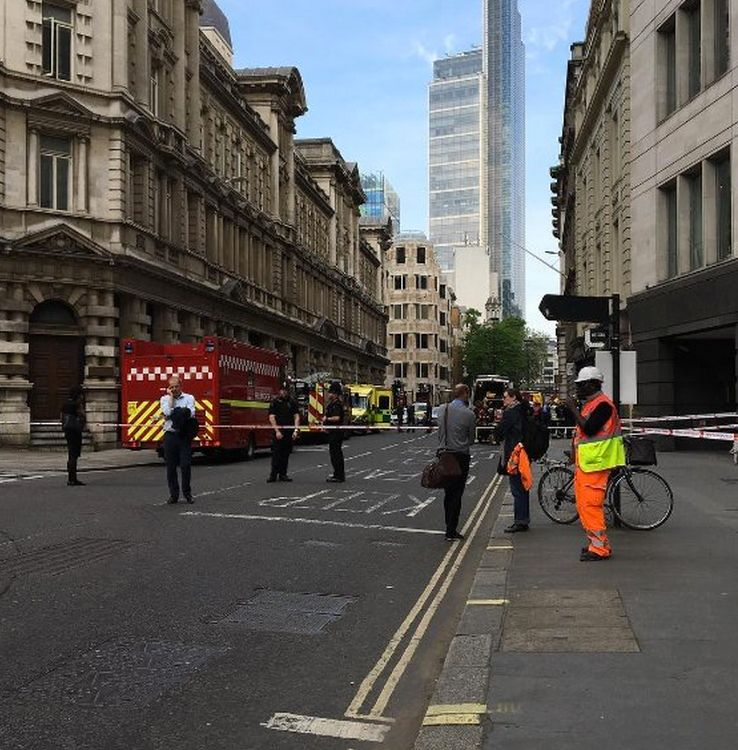 An Ammonia leak from an office fridge led to evacuations in central