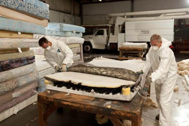 Changing lives and improving the environment: formerly incarcerated men reduce landfill waste by recycling mattresses www.spr