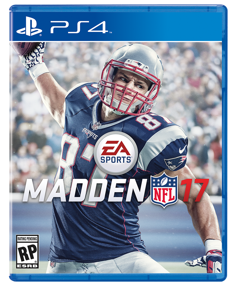 "Rob Gronkowski scores his first ""Madden"" cover."