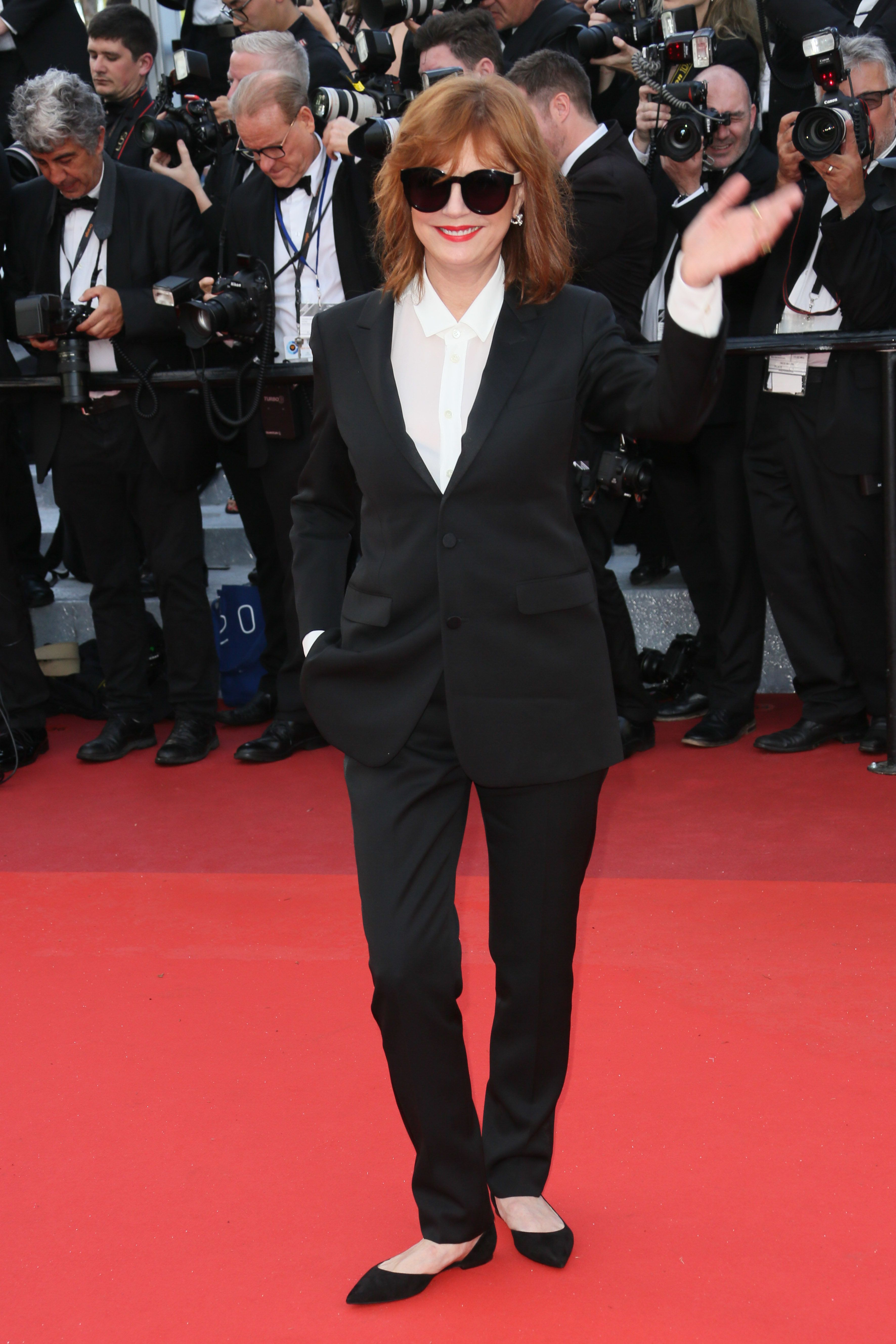 """CANNES, FRANCE - MAY 11:  Susan Sarandon attends the screening of """"Cafe Society"""" at the opening gala of the annual 69th Cannes Film Festival at Palais des Festivals on May 11, 2016 in Cannes, France.  (Photo by Tony Barson/FilmMagic)"""