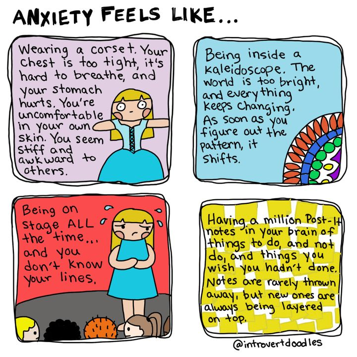 10 Comics That Are All Too Real For Someone With Anxiety Huffpost Life
