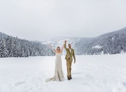 This Couple's Wedding Photog Fell Into A Frozen Lake Mid-Ceremony