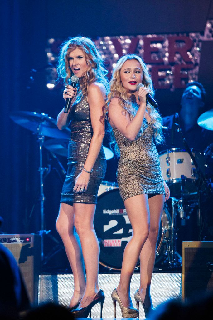 "NASHVILLE - ""Lovesick Blues"" - Marshall Evans continues to pressure Rayna and Juliette to collaborate at an event at the Ryman theater, Teddy is forced to reveal the truth to Rayna when Peggy's desperation hits its peak, and in an effort to move past her failed relationship to Avery, Scarlett finds herself closer to Gunnar, on ""Nashville,"" WEDNESDAY, NOVEMBER 28 (10:00-11:00 p.m. ET) on the ABC Television Network. (Photo by Chris Hollo/ABC via Getty Images) CONNIE BRITTON, HAYDEN PANETTIERE"