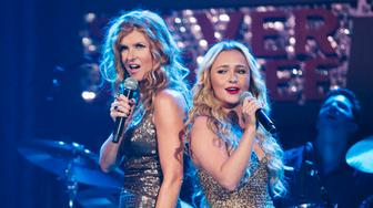 """NASHVILLE - """"Lovesick Blues"""" - Marshall Evans continues to pressure Rayna and Juliette to collaborate at an event at the Ryman theater, Teddy is forced to reveal the truth to Rayna when Peggy's desperation hits its peak, and in an effort to move past her failed relationship to Avery, Scarlett finds herself closer to Gunnar, on """"Nashville,"""" WEDNESDAY, NOVEMBER 28 (10:00-11:00 p.m. ET) on the ABC Television Network. (Photo by Chris Hollo/ABC via Getty Images) CONNIE BRITTON, HAYDEN PANETTIERE"""