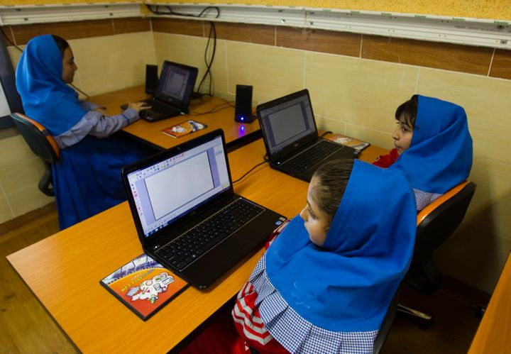 Unlike these childrenat a special preschool in Tehran, many girls in the Middle East miss out on educational opportunit