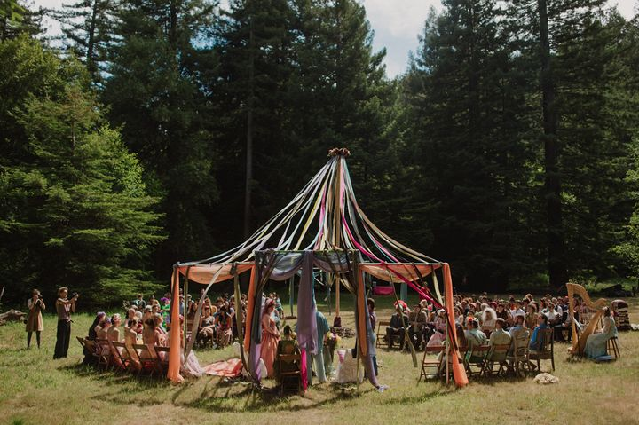 """Castaneda's favorite thing about the wedding was getting <a href=""""http://apracticalwedding.com/2016/03/mendocino-woodlands/"""" target=""""_blank"""" role=""""link"""" data-ylk=""""subsec:paragraph;itc:0;cpos:__RAPID_INDEX__;pos:__RAPID_SUBINDEX__;elm:context_link"""">so many loved ones</a> in the same place at the same time."""