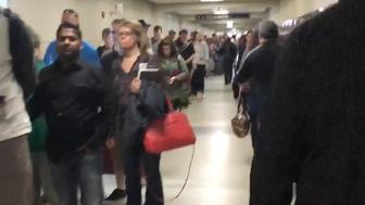 TSA security line at Chicago's Midway Airport