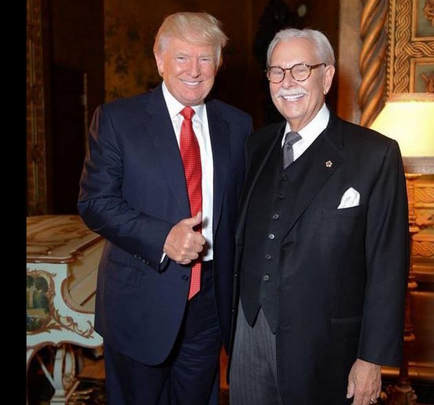 Donald Trump and his former butler Anthony Senecal who has called for President Barack Obama's