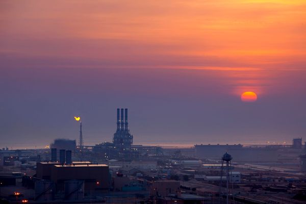 A petrochemical factory in Jubail, SaudiArabia.