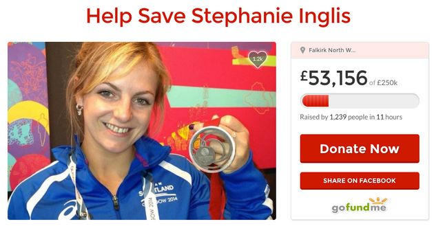 Clink to donate to the Stephanie InglisGoFundMe