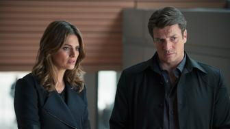 CASTLE - 'Castle, P.I.' - After being forbidden to work with Kate Beckett or the 12th Precinct, Castle obtains a P.I. license and shows up unannounced at Beckett's crime scene, hoping to investigate alongside her as a private eye. But things don't go as Castle had planned, on 'Castle,' MONDAY, JANUARY 12 (10:01-11:00 p.m., ET) on the ABC Television Network. (Colleen Hayes/ABC via Getty Images)