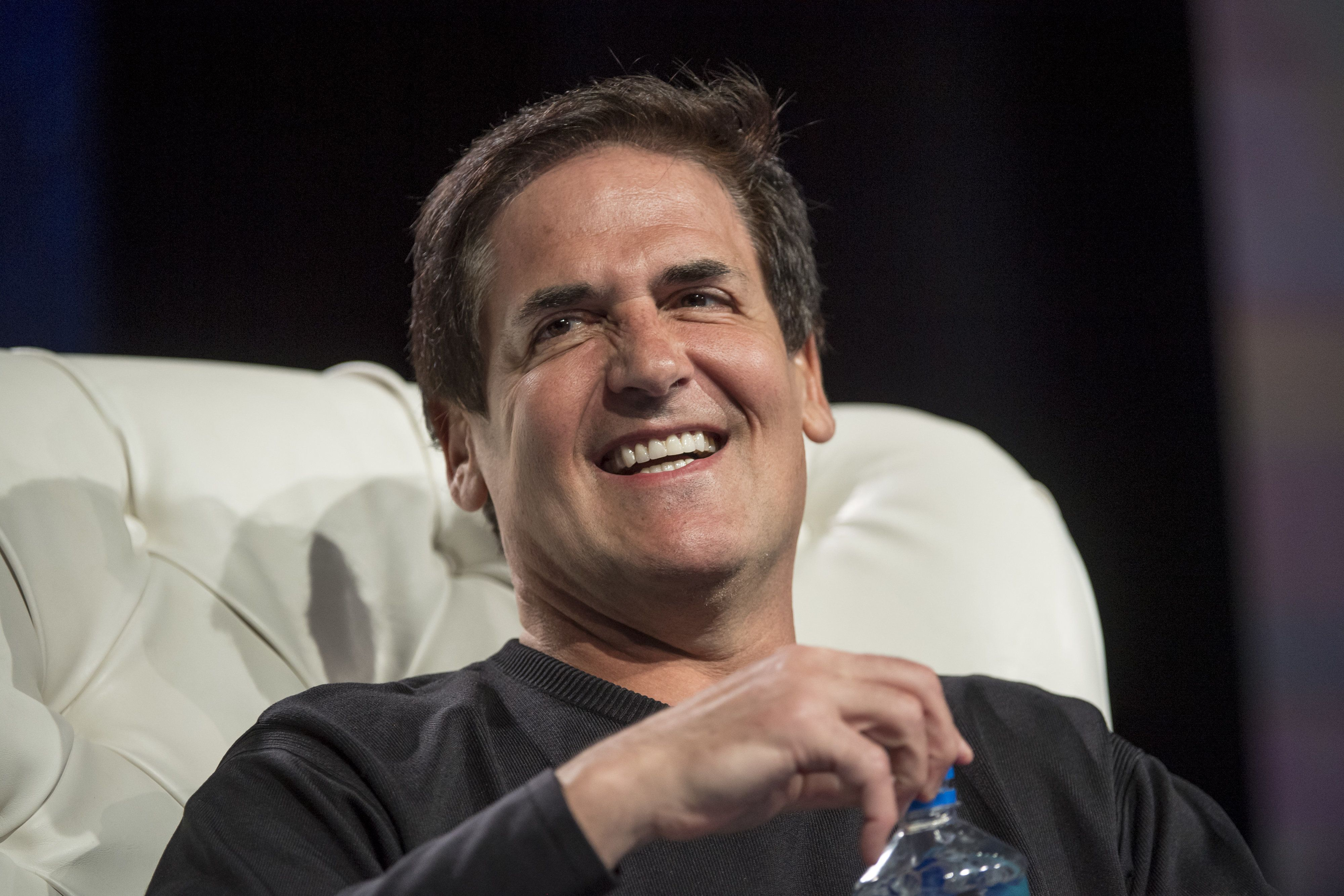 Mark Cuban, billionaire owner of the National Basketball Association (NBA) Dallas Mavericks basketball team, speaks during the Skybridge Alternatives (SALT) conference in Las Vegas, Nevada, U.S., on Thursday, May 12, 2016. The SALT Conference facilitates balanced discussions and debates on macroeconomic trends, geopolitical events, and alternative investment opportunities within the context of a dynamic global economy. Photographer: David Paul Morris/Bloomberg via Getty Images